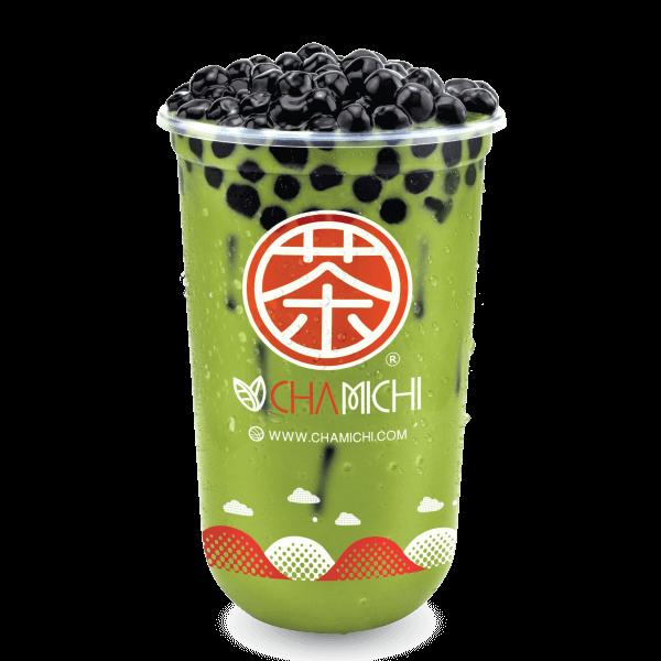 ชาเขียวนมไข่มุก - Green Milk Tea Bubble